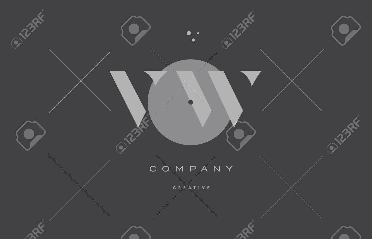 Vw v w grey modern stylish alphabet dot dots eps company letter vw v w grey modern stylish alphabet dot dots eps company letter logo design vector icon template buycottarizona Image collections