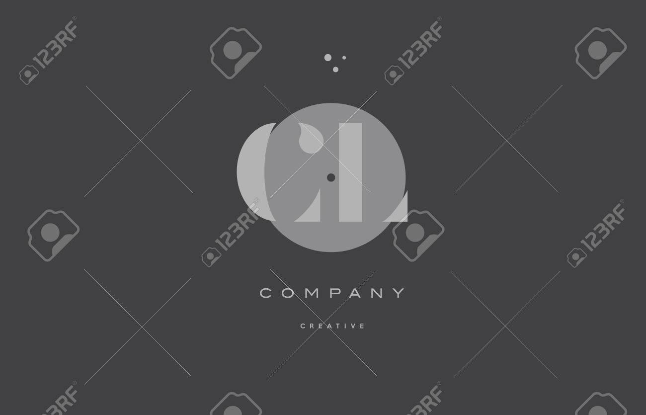 cl c l grey modern stylish alphabet dot dots eps company letter logo design vector icon template - 74041579