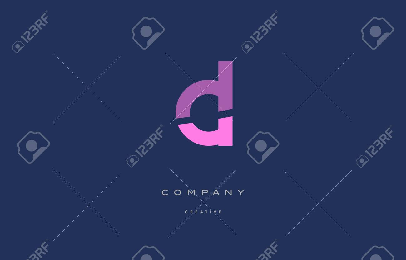 cl c l pink blue pastel modern abstract alphabet company logo design vector icon template - 73896973