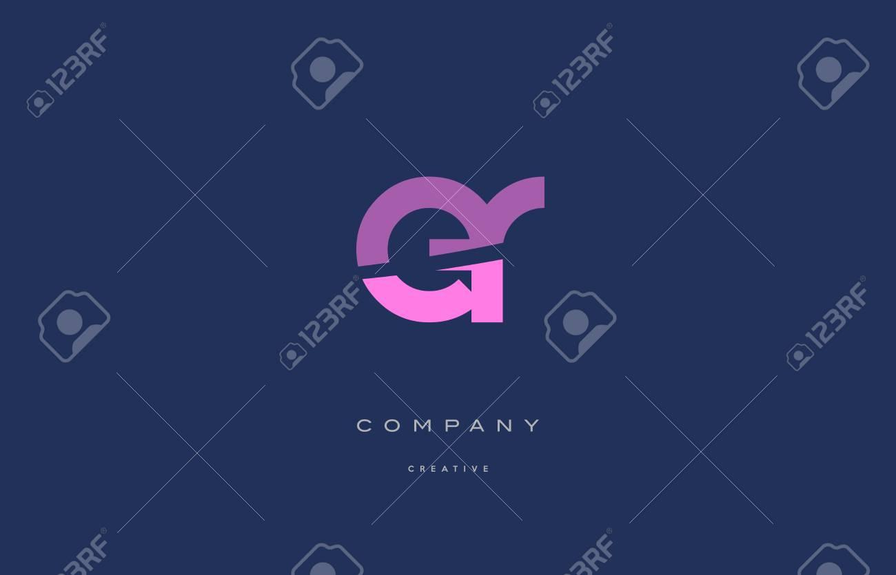 er e r pink blue pastel modern abstract alphabet company logo design vector icon template - 73744210