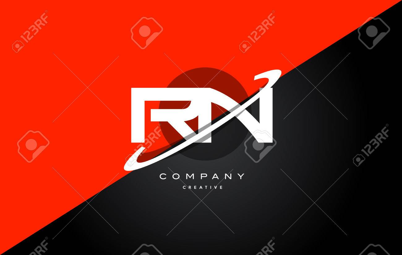 Rn letters stock photos royalty free rn letters images rn r n red black white technology swoosh alphabet company letter logo design vector icon template altavistaventures Gallery