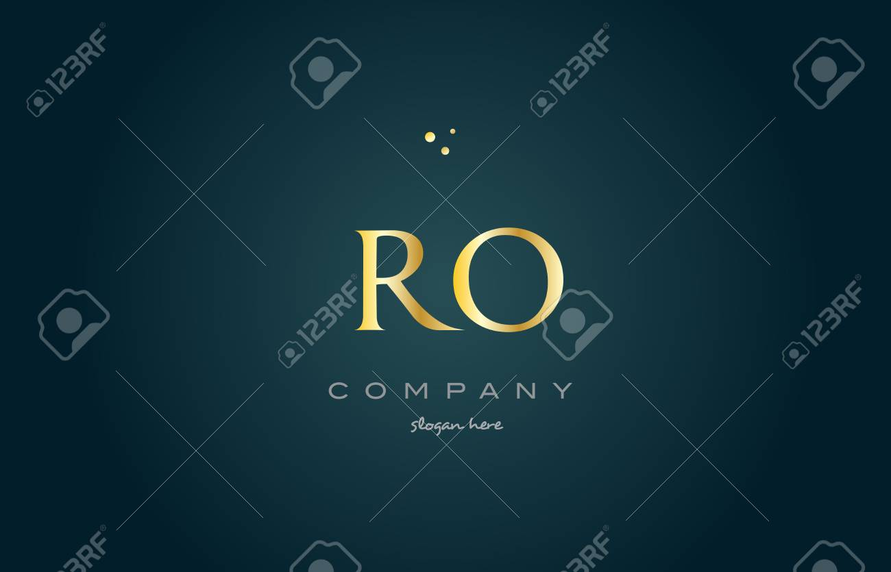 ro r o gold golden luxury product metal metallic alphabet company