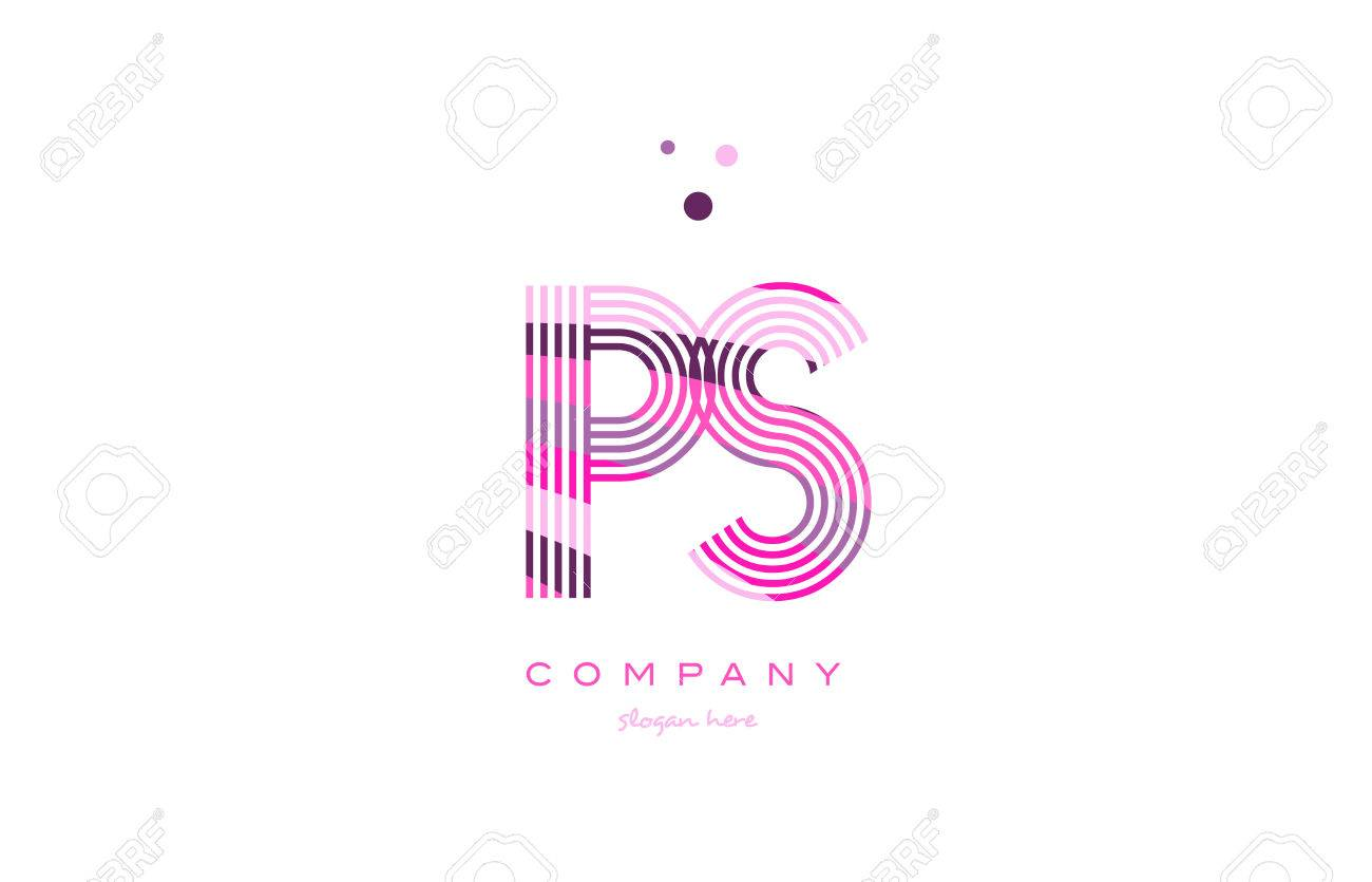 Ps p s alphabet letter logo pink purple line font creative text ps p s alphabet letter logo pink purple line font creative text dots company vector icon design thecheapjerseys Images