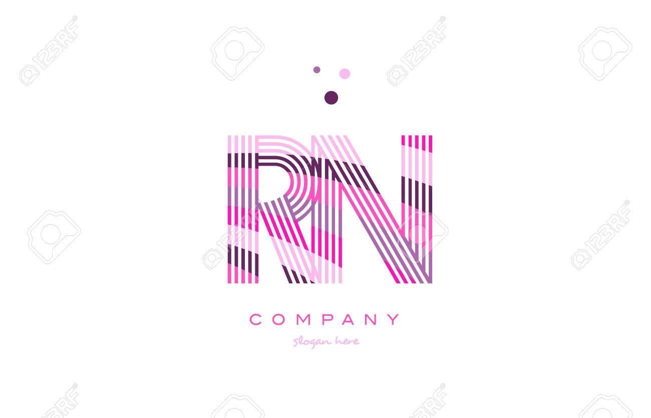 Rn r n alphabet letter logo pink purple line font creative text rn r n alphabet letter logo pink purple line font creative text dots company vector icon design altavistaventures Images