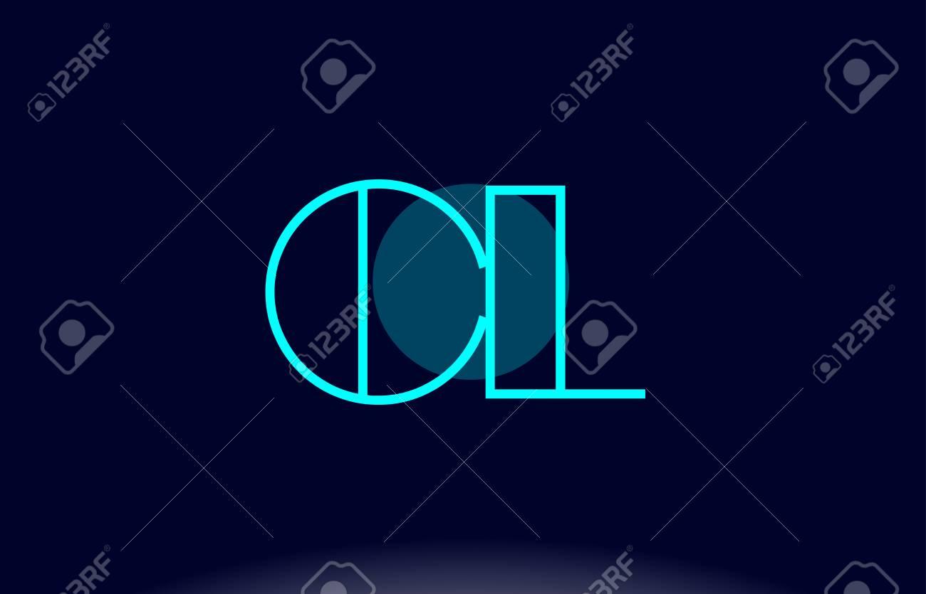 CL blue line circle letter logo alphabet creative company vector icon design template - 81715451