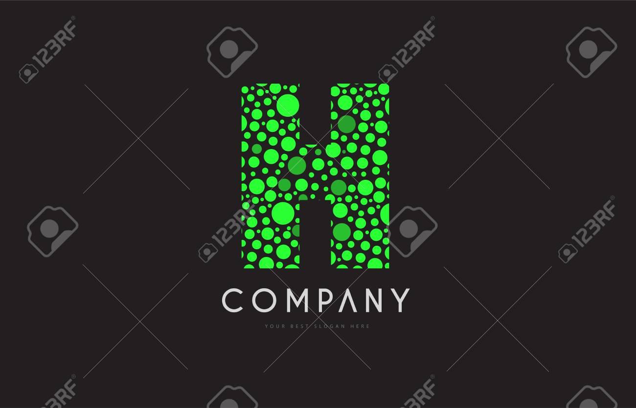 7a39f28a6a Letter h green bubble circle dot alphabet letter bold logo vector..