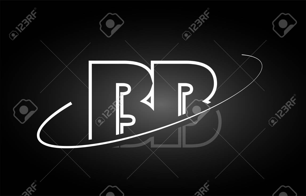 Bb B B Letter Logo Combination Black White Alphabet Royalty Free
