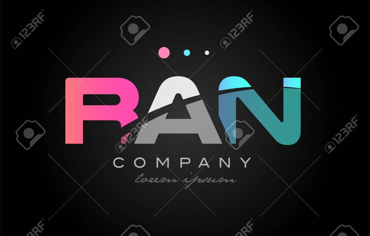 RAN R A N Three 3 Letter Logo bination Alphabet Vector Creative