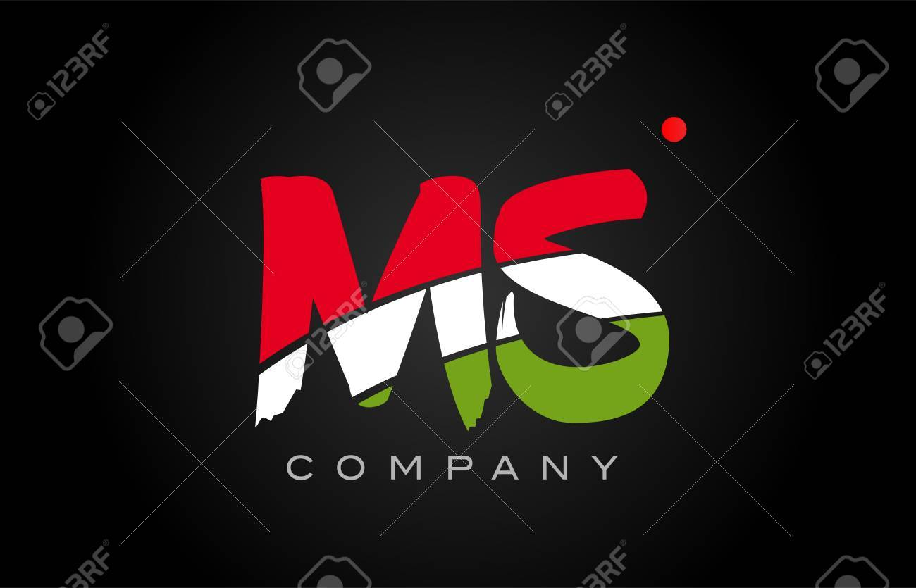 ms m s letter logo combination alphabet vector creative company