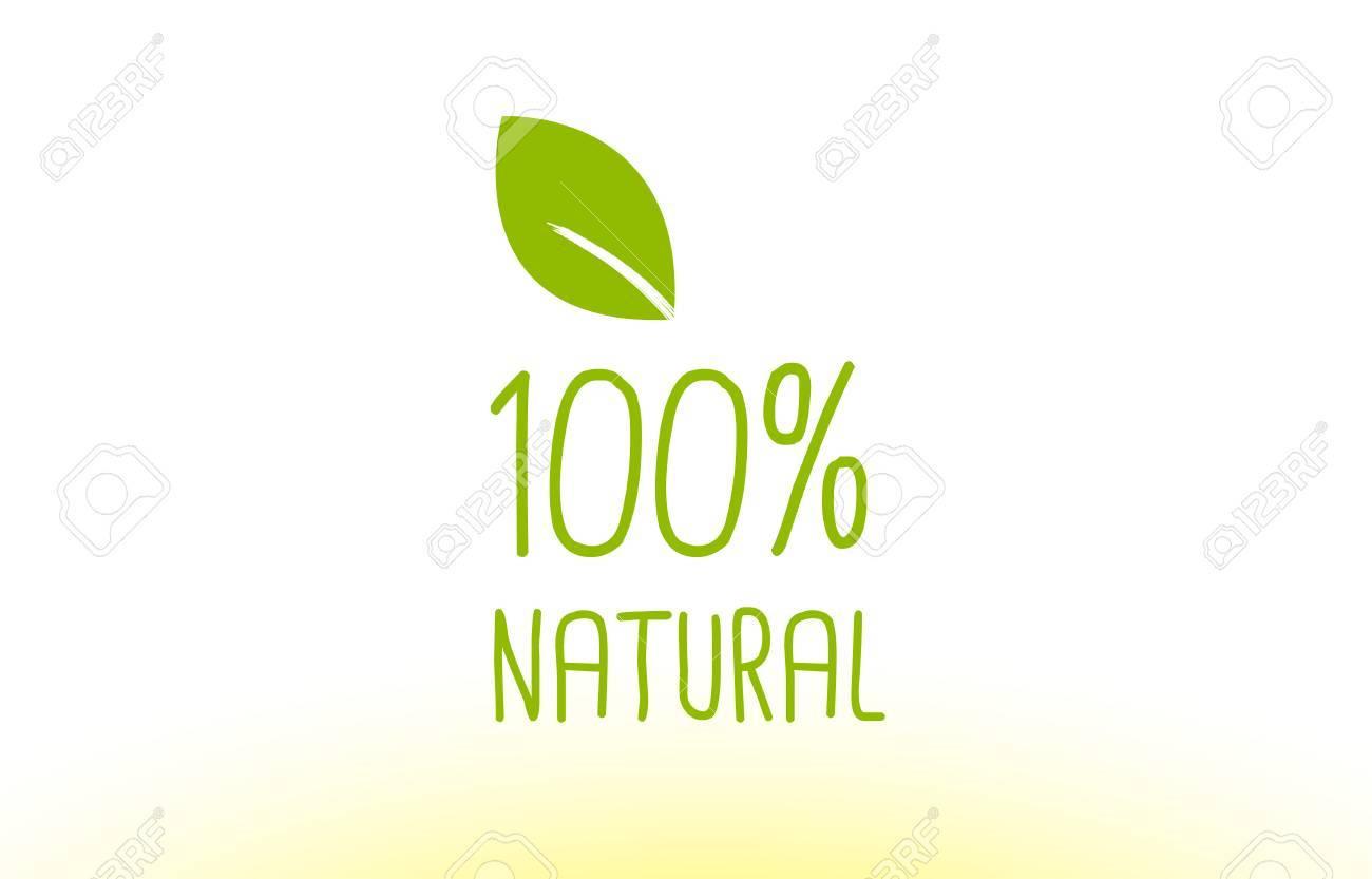 100% Hoja Verde Concepto De Texto Logotipo Vector Creativo Empresa ...