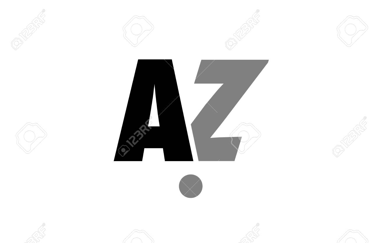 Creative icon of alphabet letter a and z design