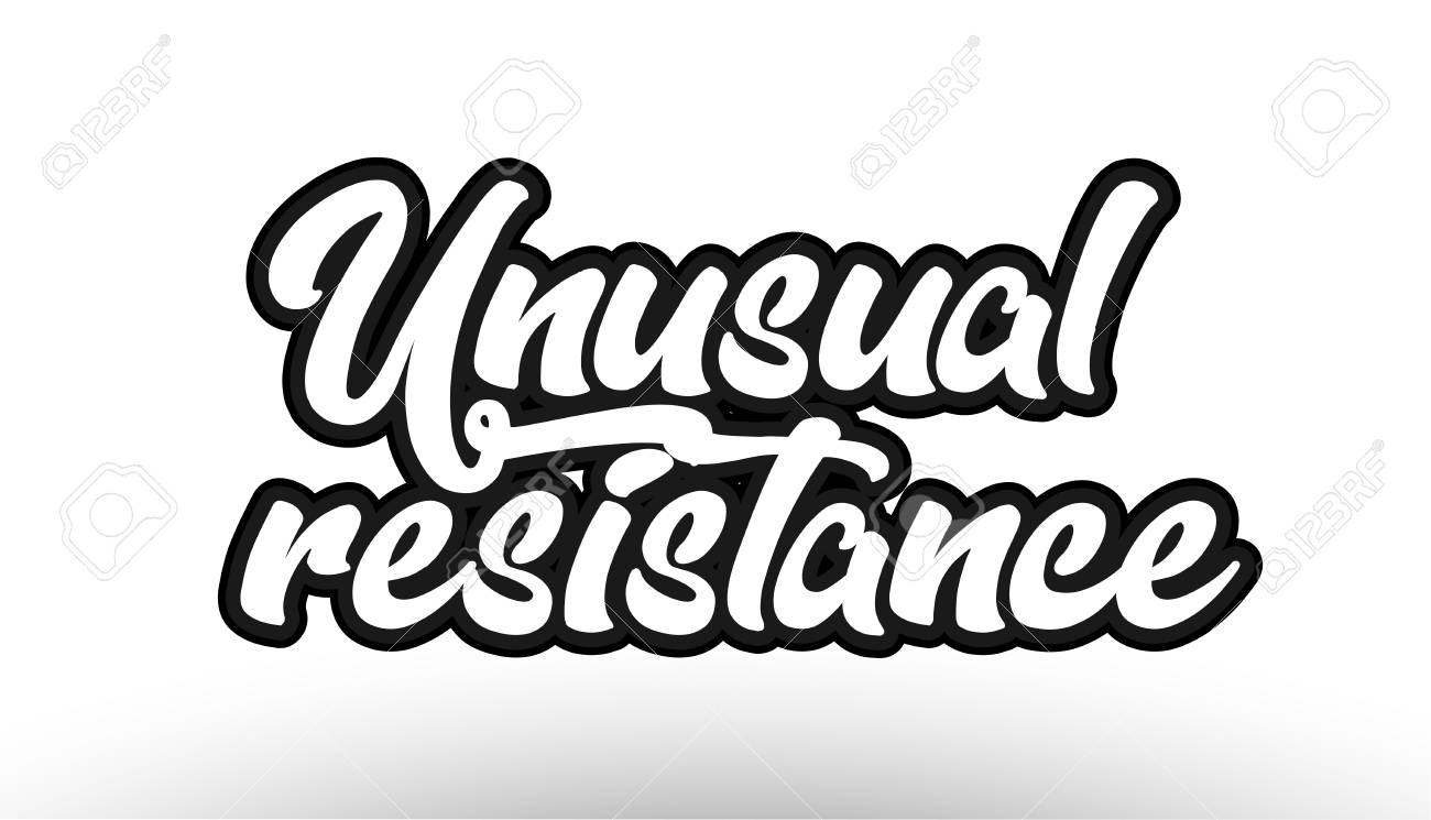 Unusual resistance beautiful graffiti text expression typography on white background suitable for icon