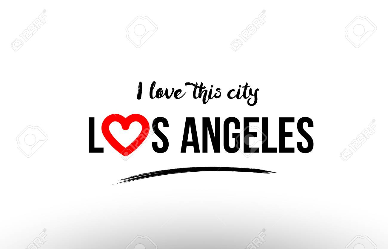 Beautiful Typography Design Of City Los Angeles Name Icon With