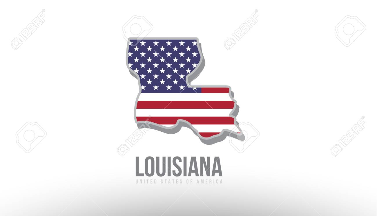 Vector Illustration Of Louisiana County State With Us United - Us-map-logo