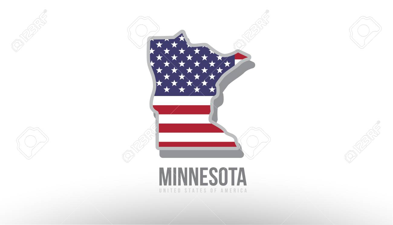Vector Illustration Of Minnesota County State With Us United - Us-map-logo