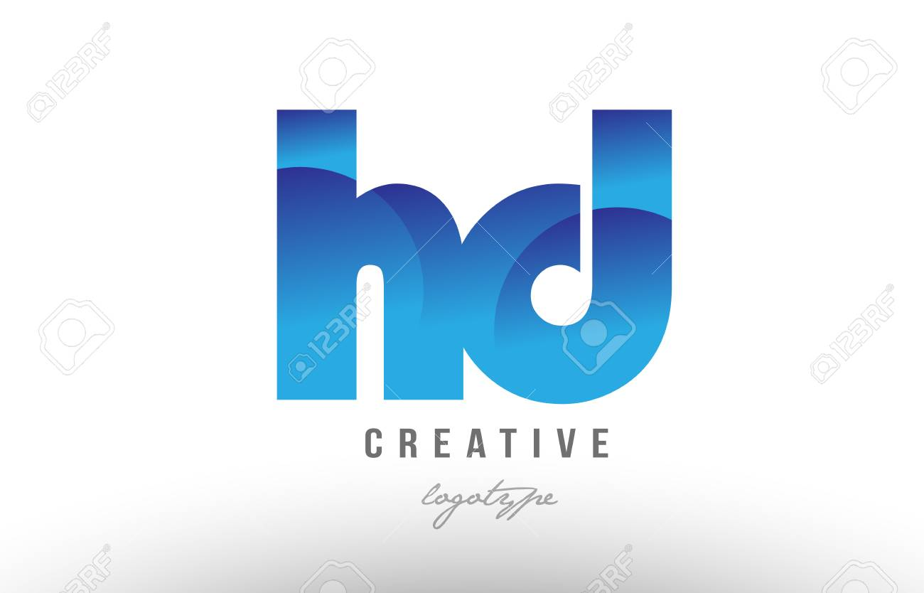 Design of alphabet letter logo combination hd h d with blue gradient design of alphabet letter logo combination hd h d with blue gradient color for a company or thecheapjerseys Image collections