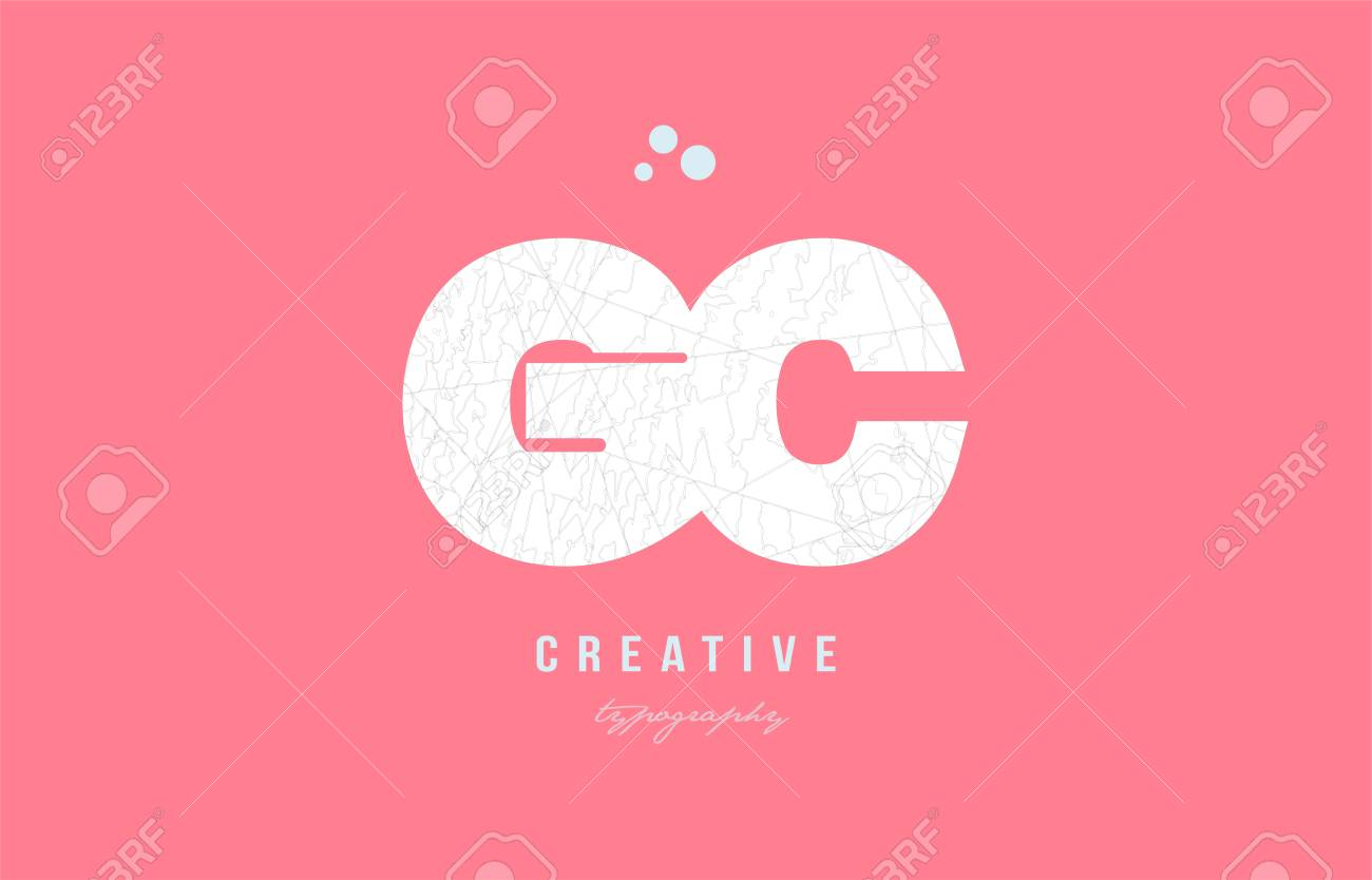 Design Of Alphabet Letter Logo Gc G C Combination With Pink Color ...