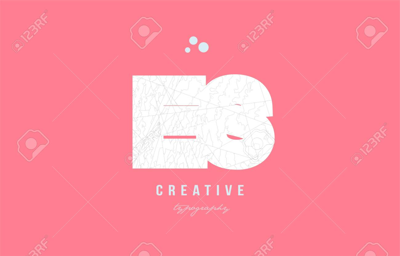 Design Of Alphabet Letter Logo Es E S Combination With Pink Color ...