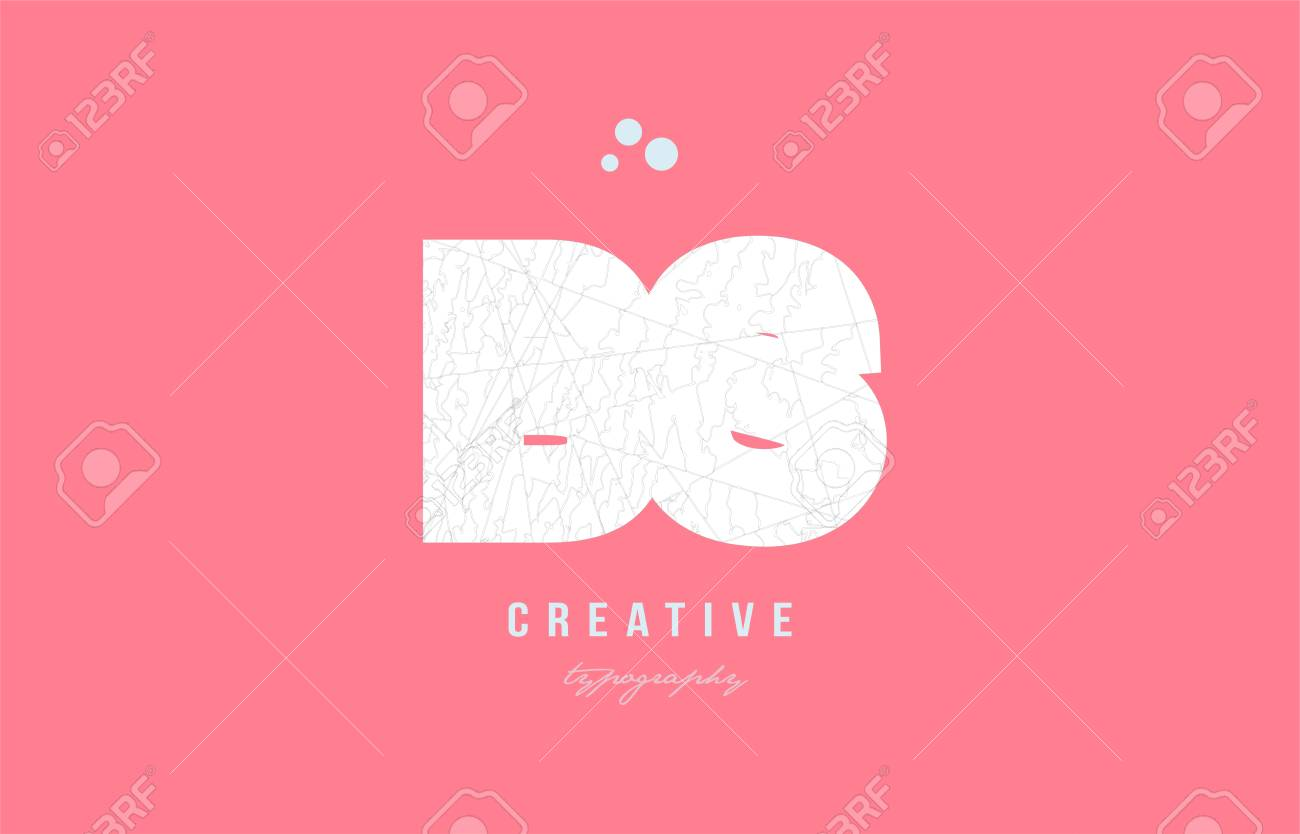 Design Of Alphabet Letter Logo Bs B S Combination With Pink Color ...