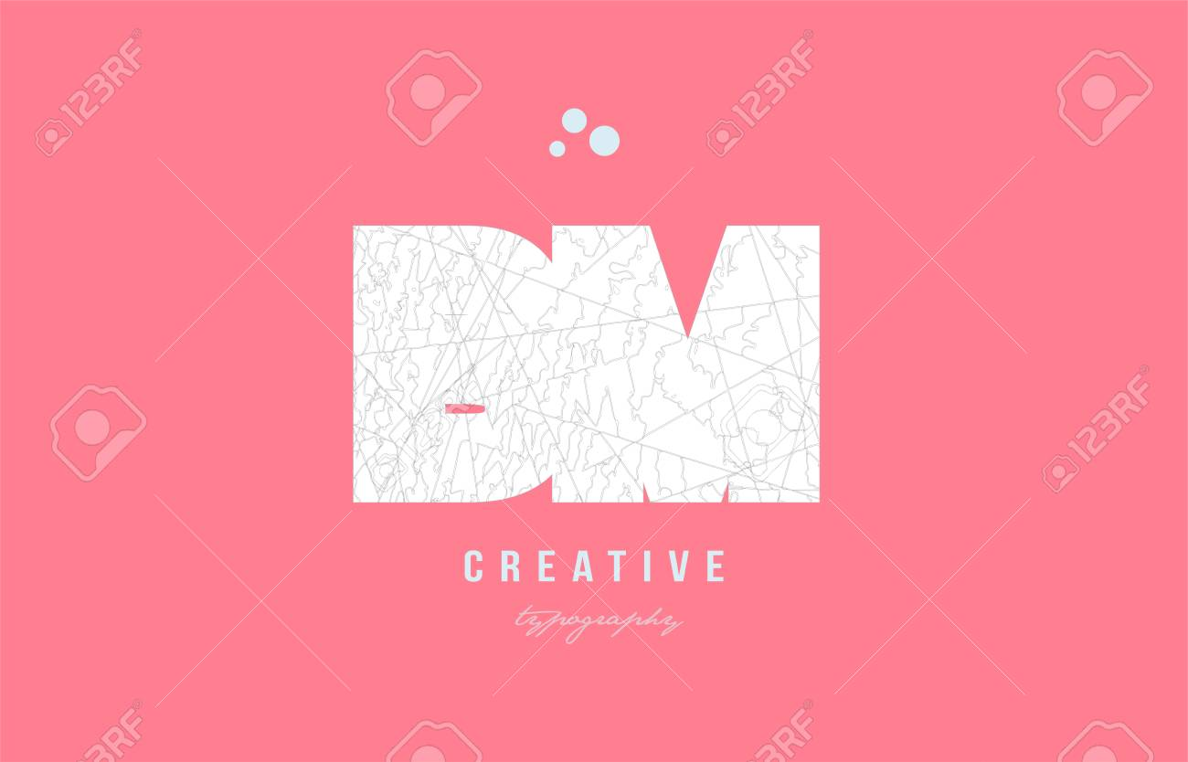 Design Of Alphabet Letter Logo Bm B M Combination With Pink Color ...