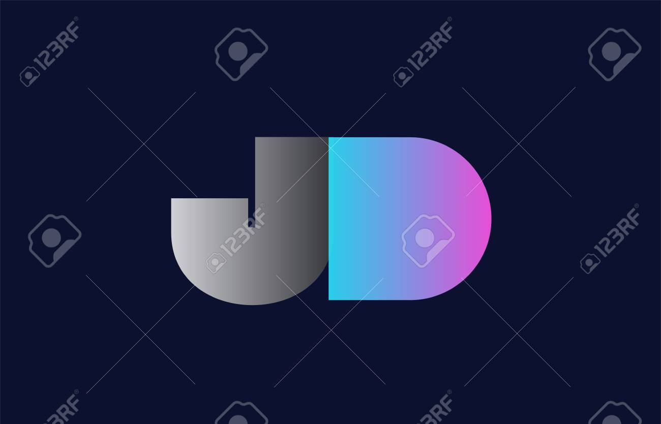 initial alphabet letter jd j d logo combination in pink blue royalty free cliparts vectors and stock illustration image 101848096 123rf com