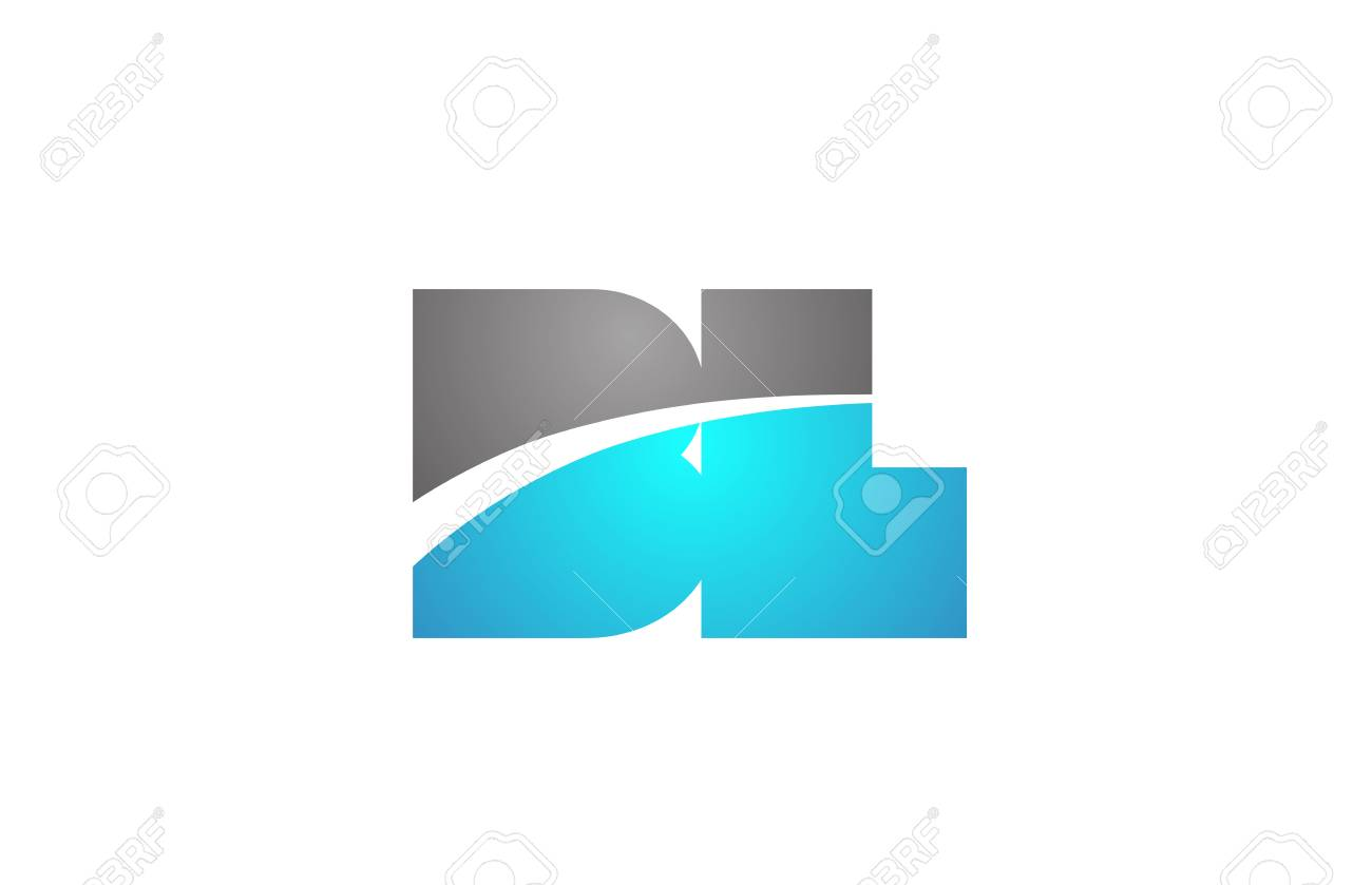 alphabet letter bl b l logo combination in blue and grey colors suitable for business and corporate identity - 122243978