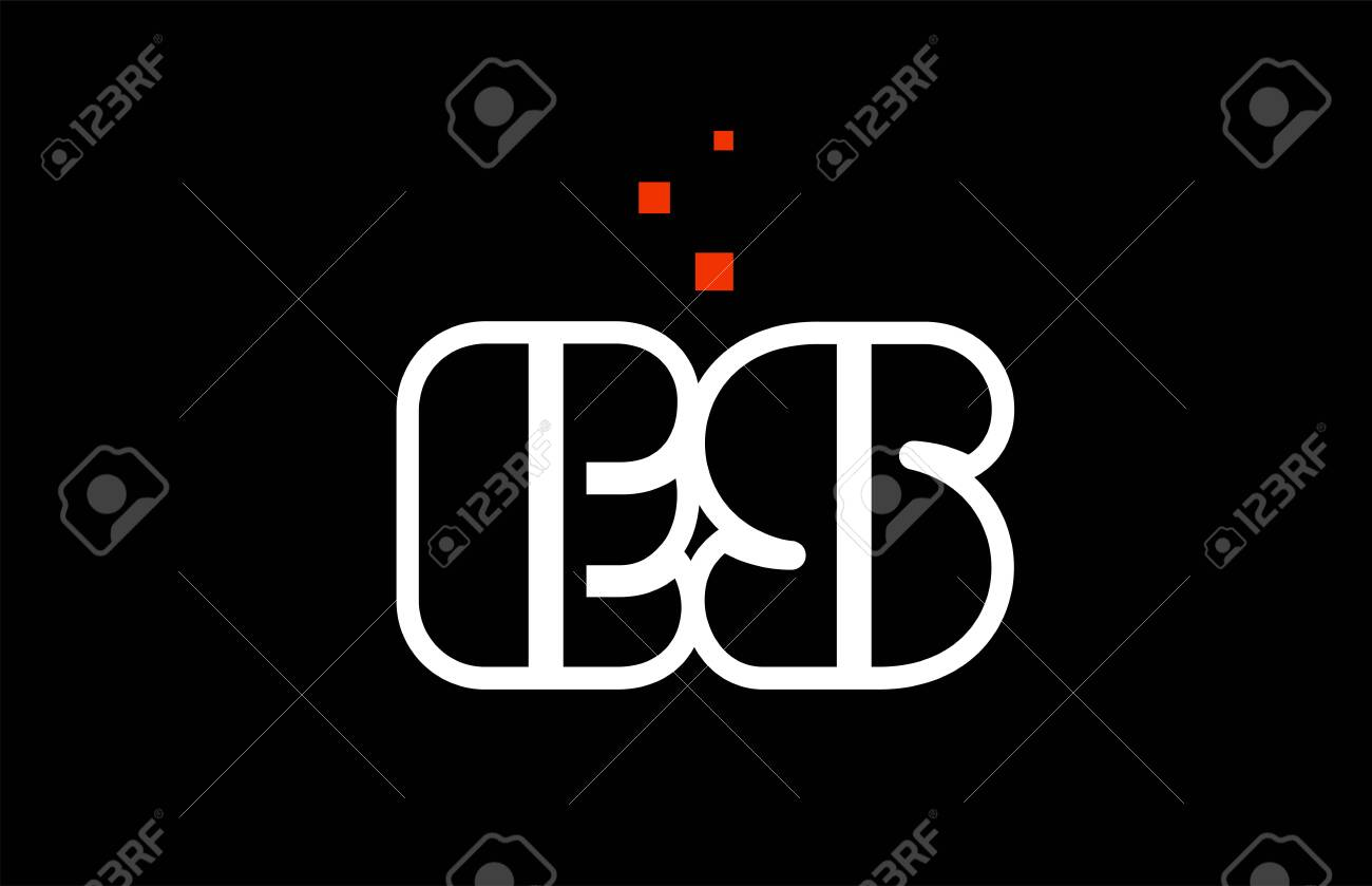 ES E S black white red dots alphabet letter combination suitable as a logo icon design for a company or business - 122352456