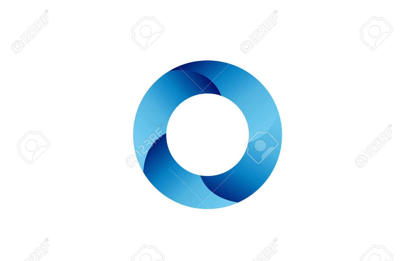 O creative blue gradient alphabet letter logo for branding and business. Design for lettering and corporate identity. Professional icon template - 168173293