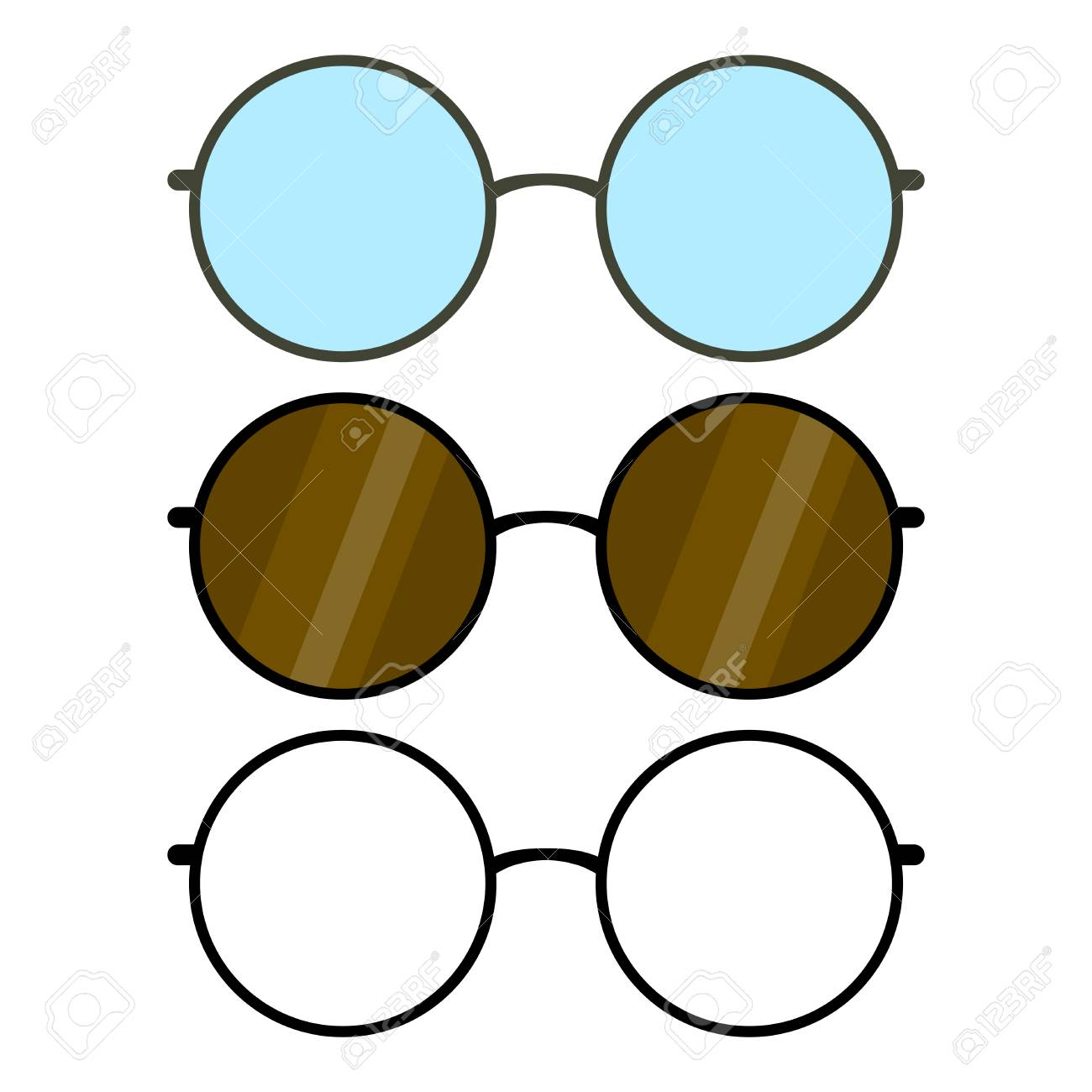cb729cff368 Set of round glasses frames Stock Vector - 99834442