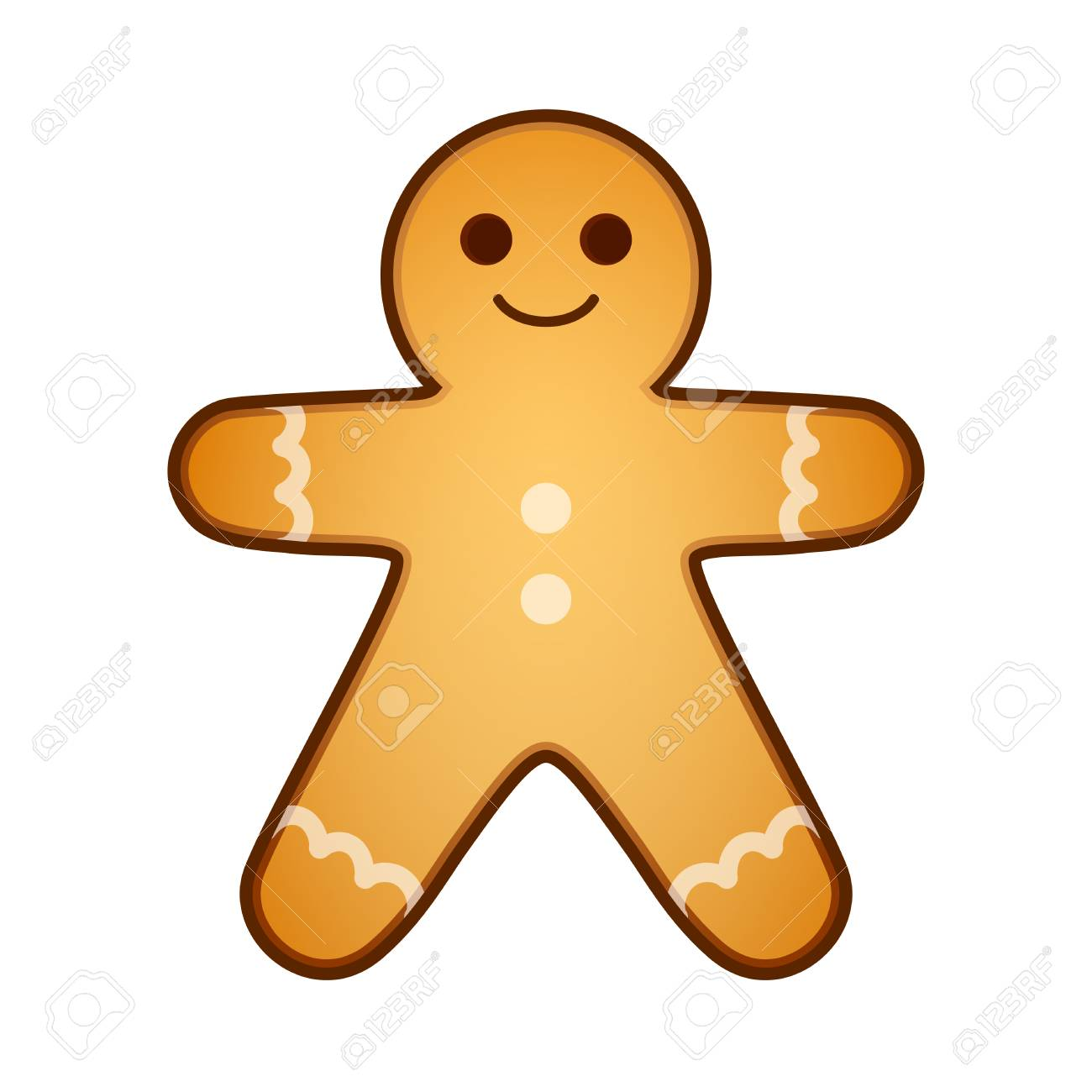 Gingerbread Man A Gift For Christmas And New Year Present Baking
