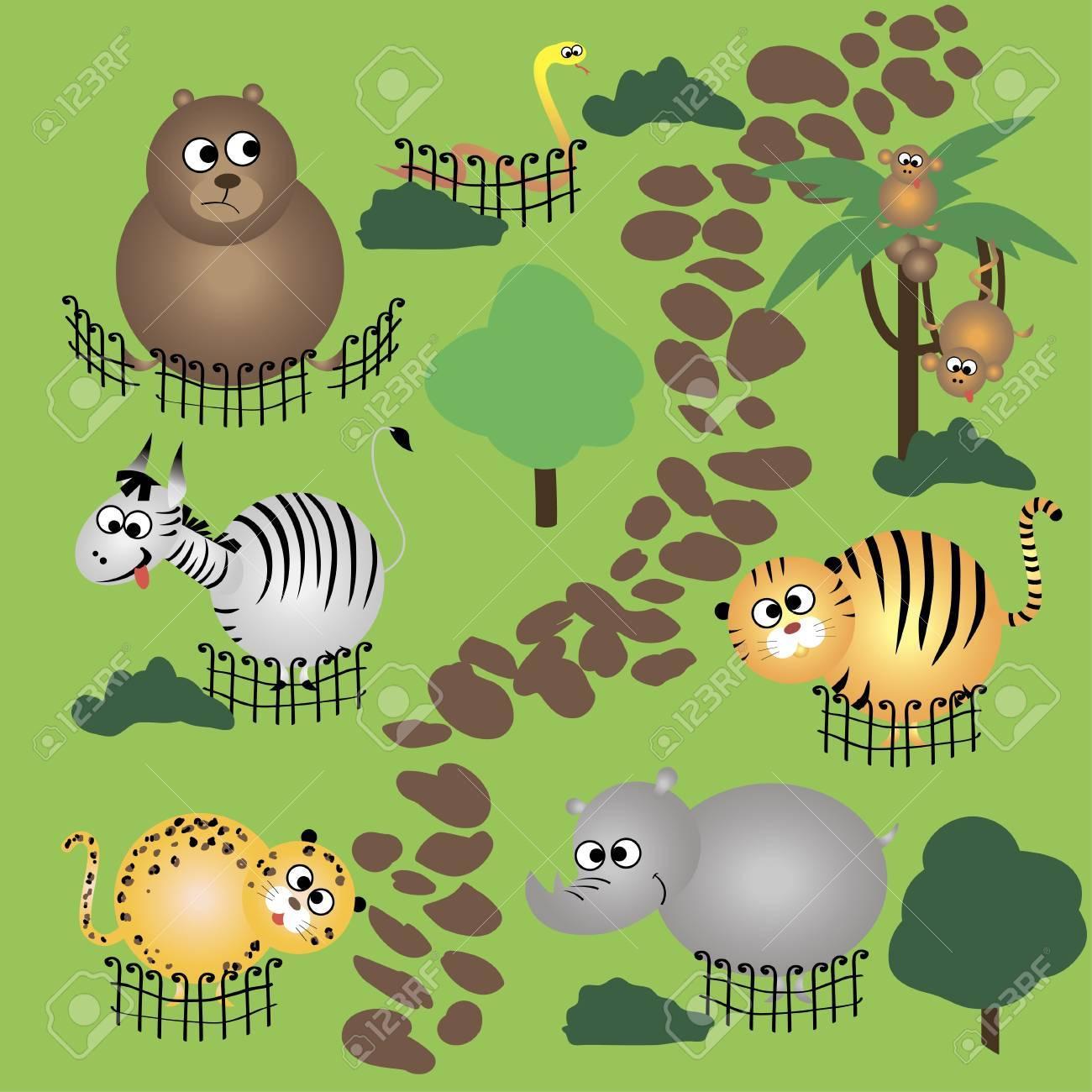 animals in zoo Stock Vector - 15789169