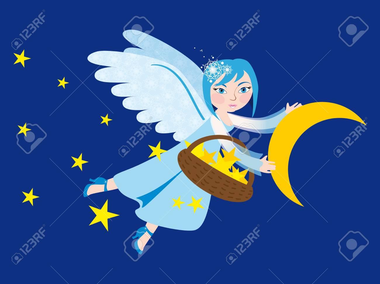 Snow angel Stock Vector - 15789126