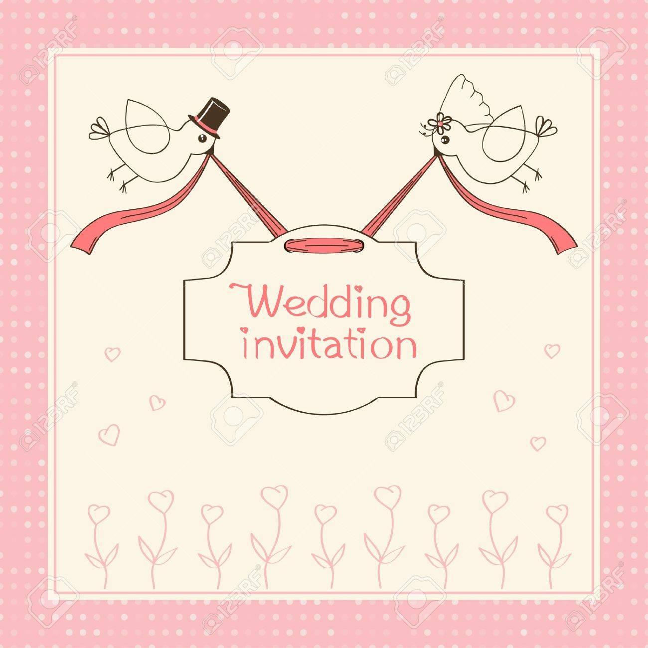 wedding invitation Stock Vector - 19424288