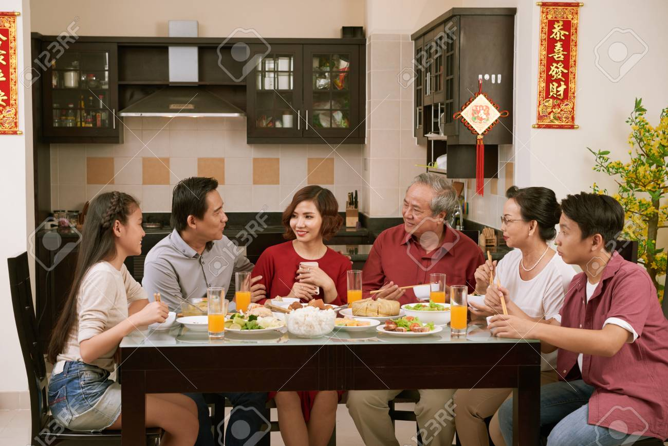 Big family celebrating Tet - 113460673