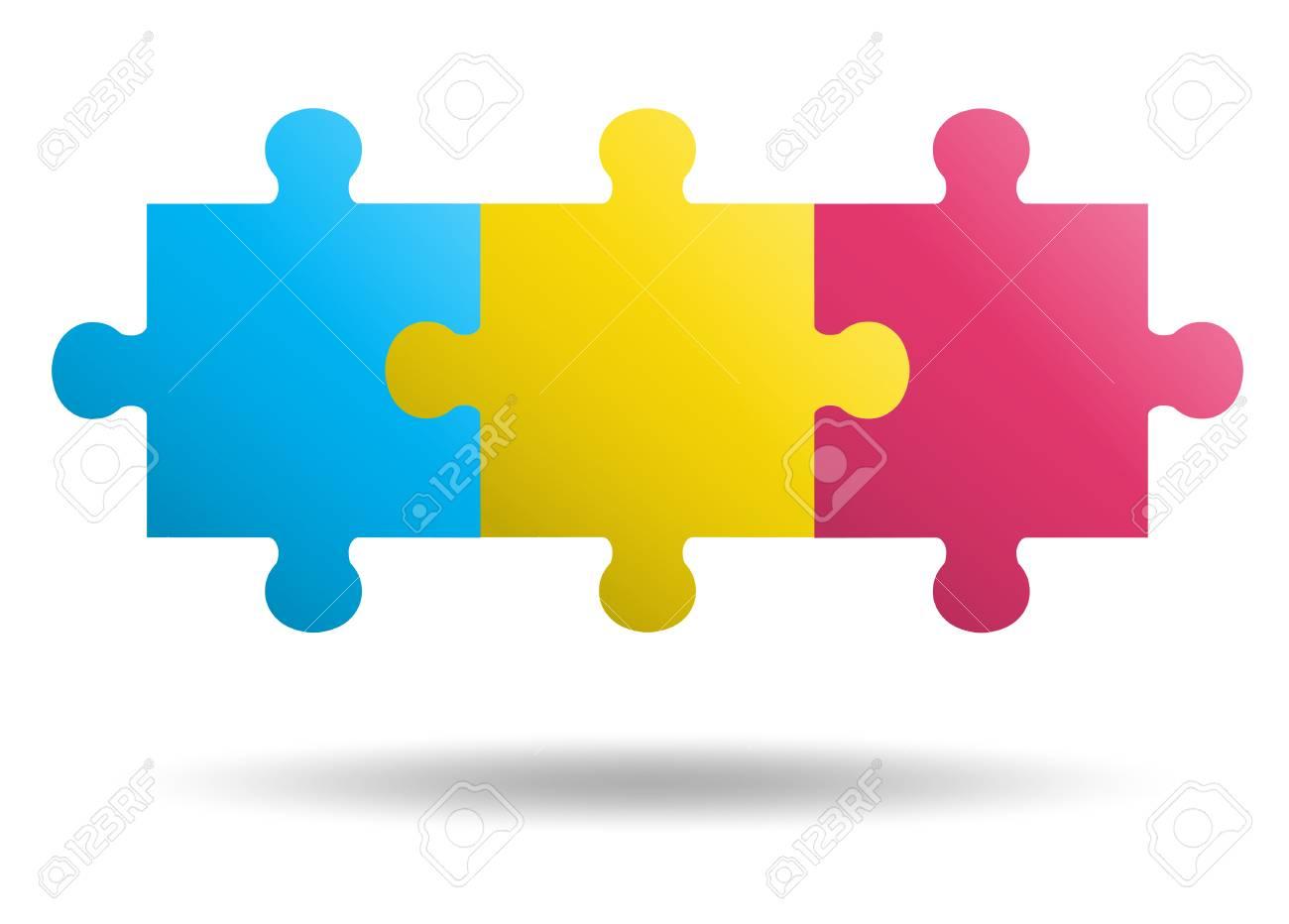 3 pieces Puzzle design - 114762741