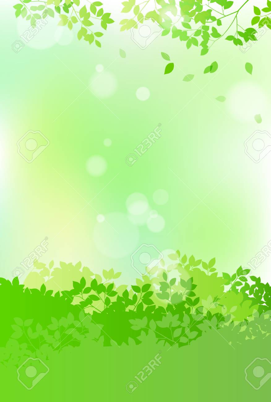 Fresh green and sun leaves landscape - 118884243