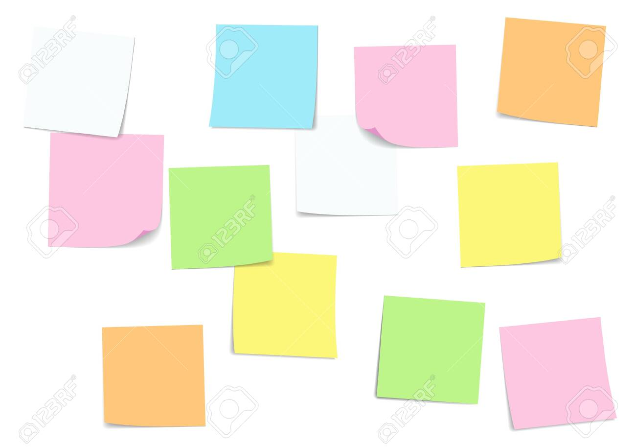 Sticky note and Note paper attached - 152026651