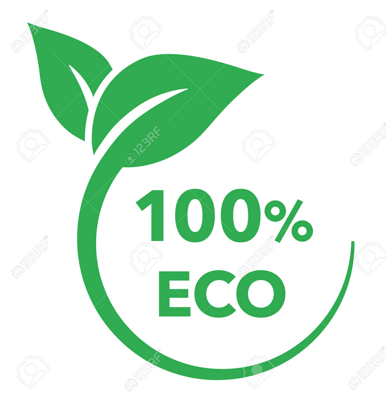 Leaf and ecology vector mark - 167577544