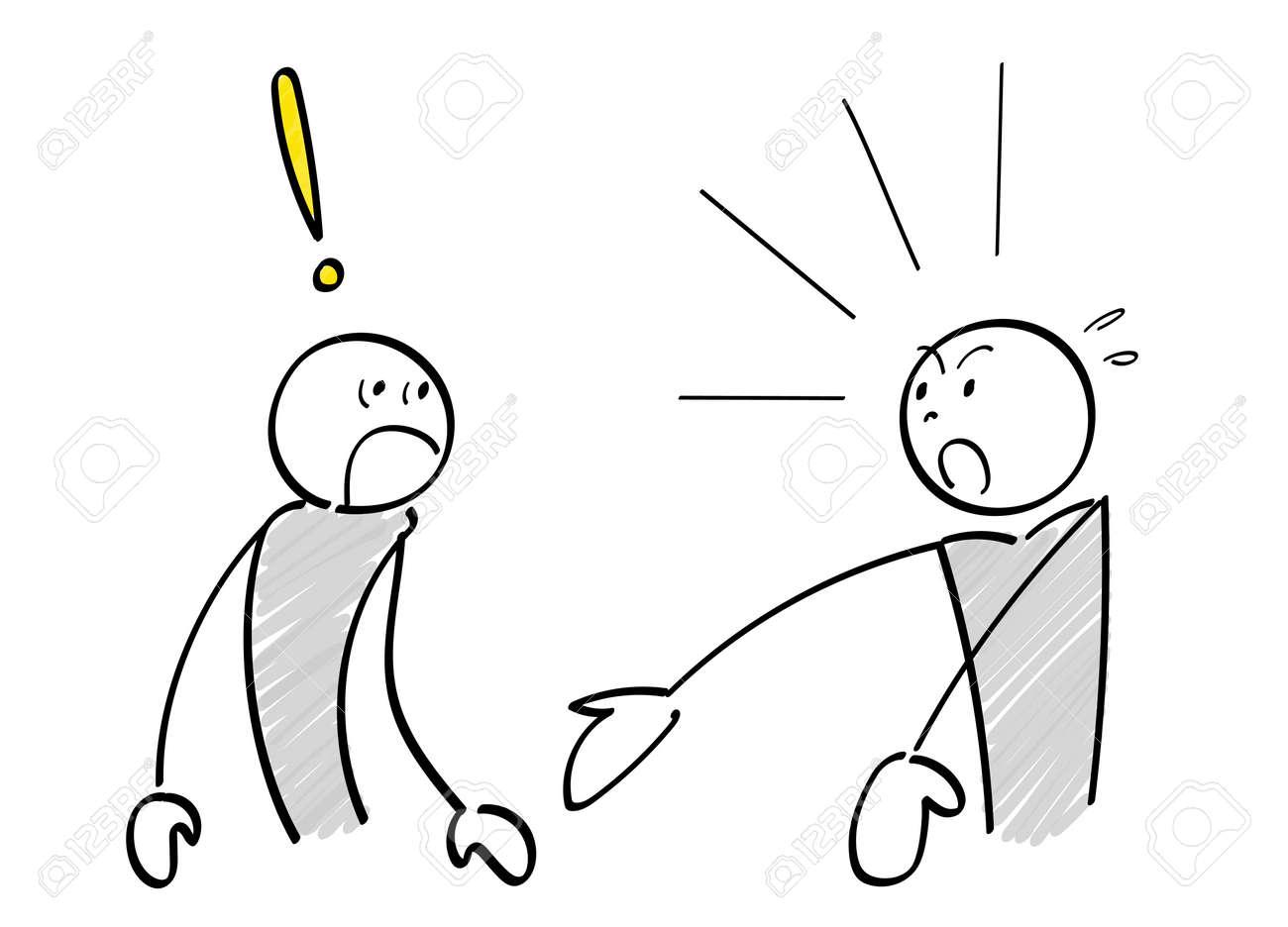 Two stick figures amazing scene - 168807204