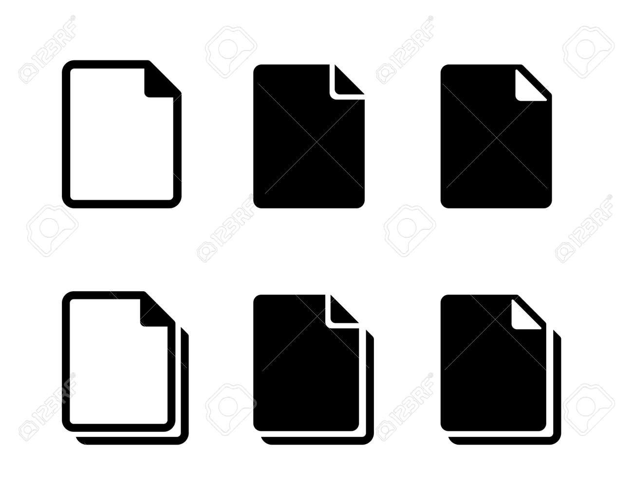 Document file icon variation set - 169388403