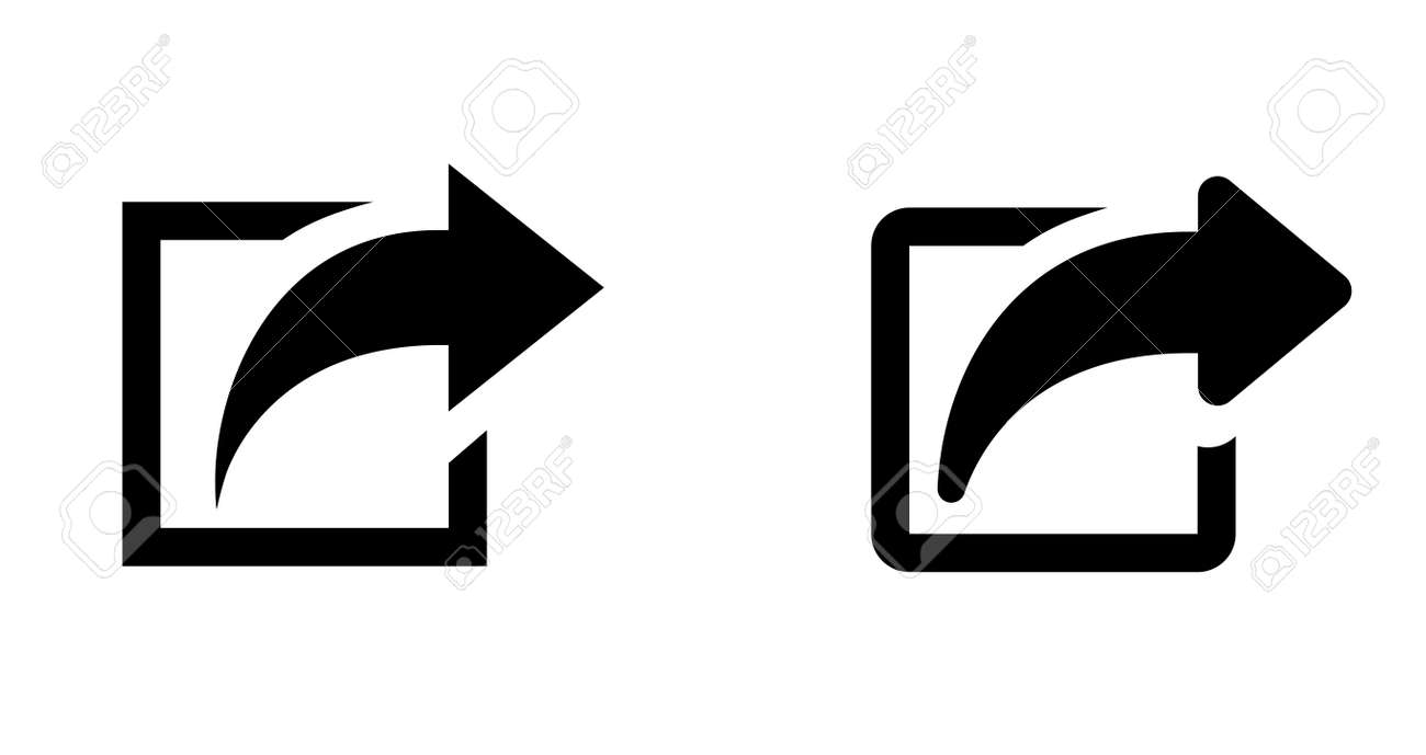 Arrow icon (button to open a new page on the web or a link page) - 169458638