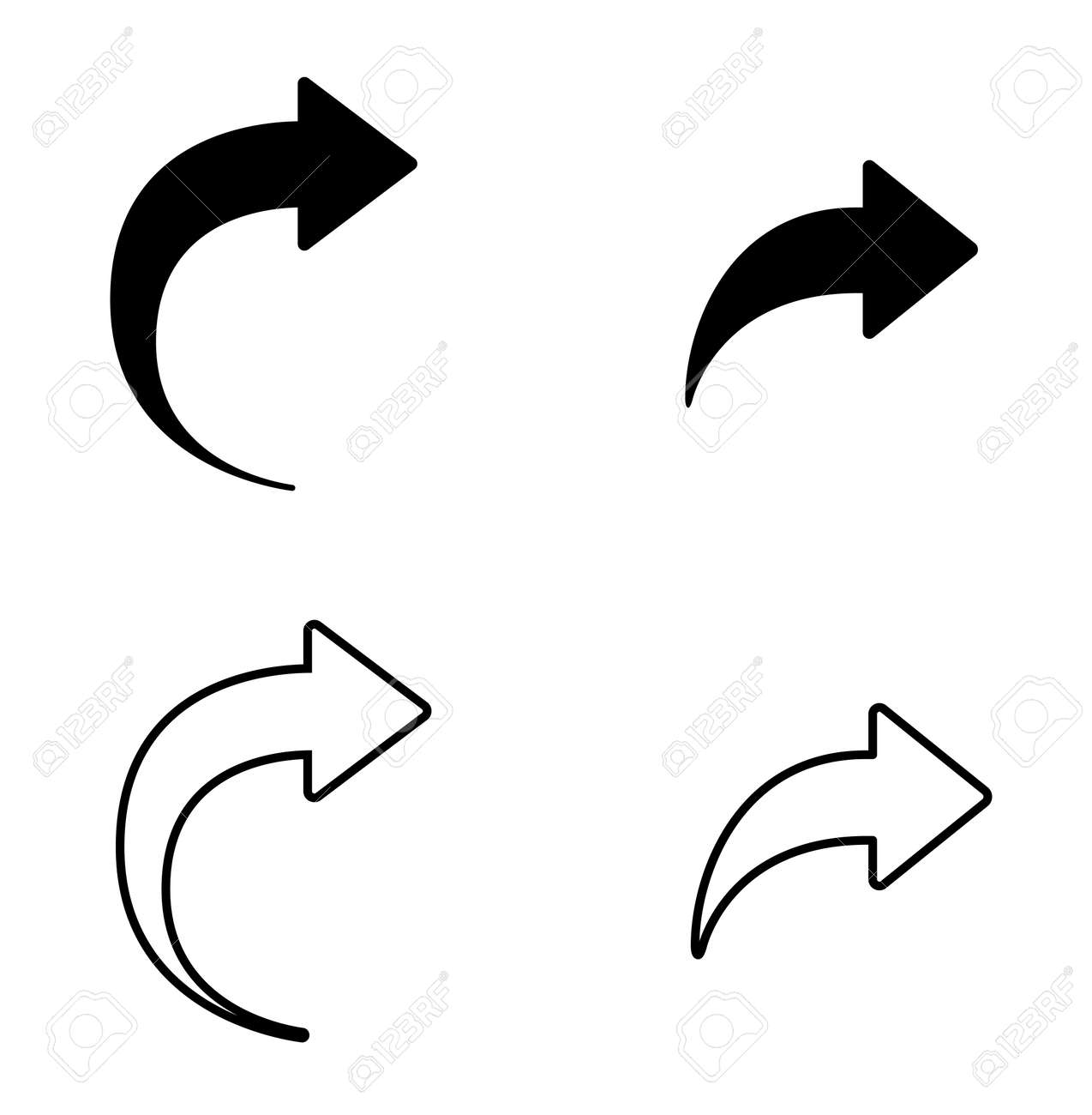 Set of arrow back icon and button - 169458652
