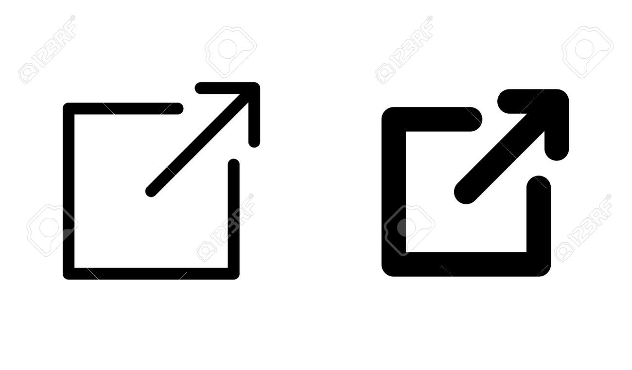Arrow icon (button to open a new page on the web or a link page) - 169821866