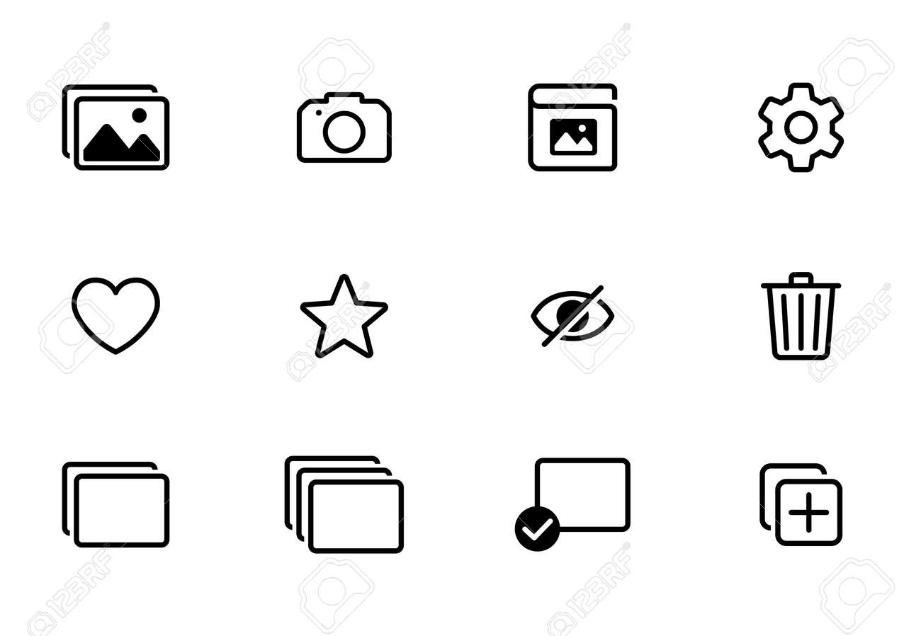 Photo and shooting app icon set - 170087236