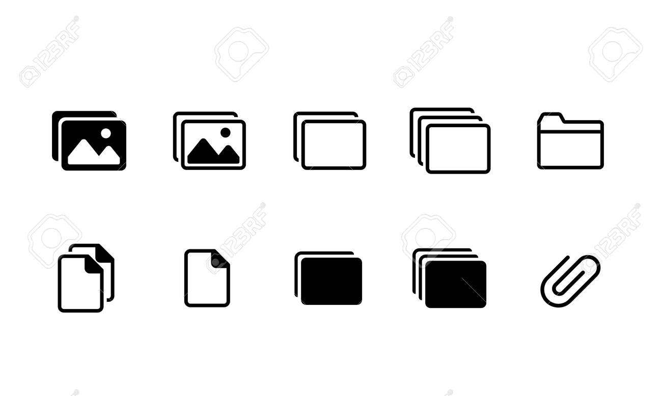 Photo and picture data icon set - 170087244