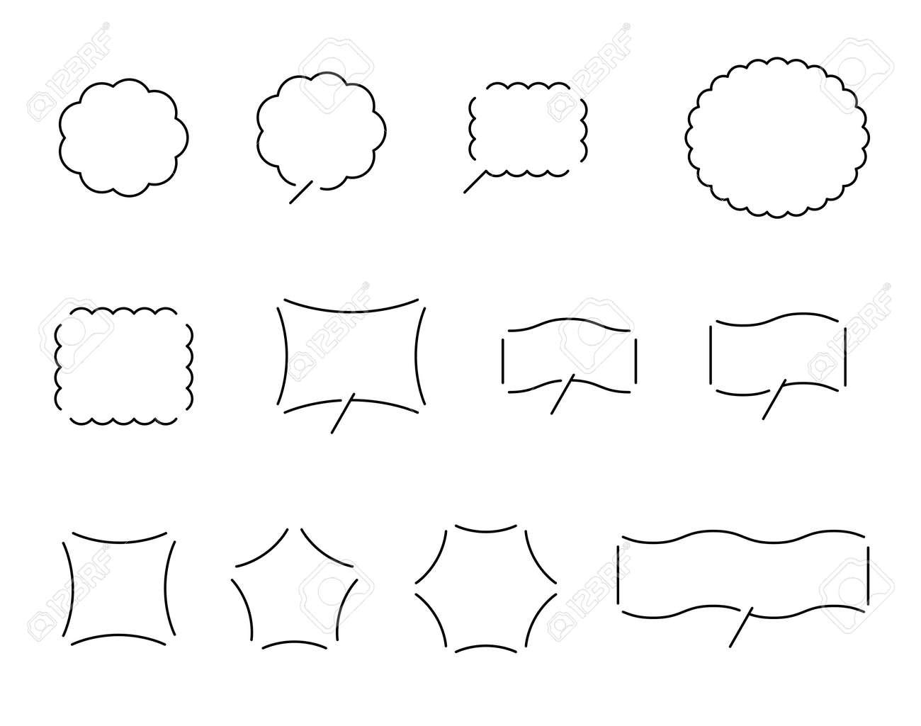 Various Speech balloon design set - 170293655