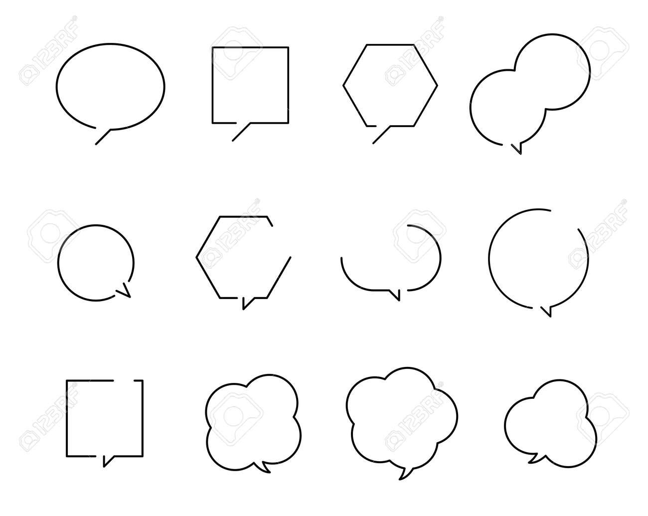Various Speech balloon design set - 170293474