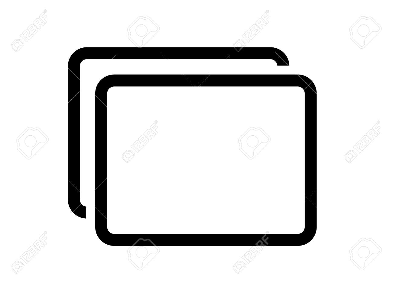 Screen and image vector icon - 170366970