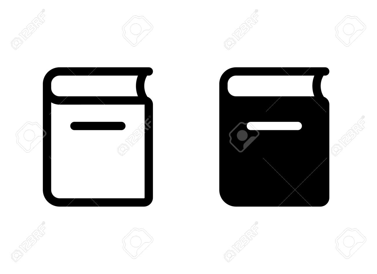 Thick book vector icon set - 170366971