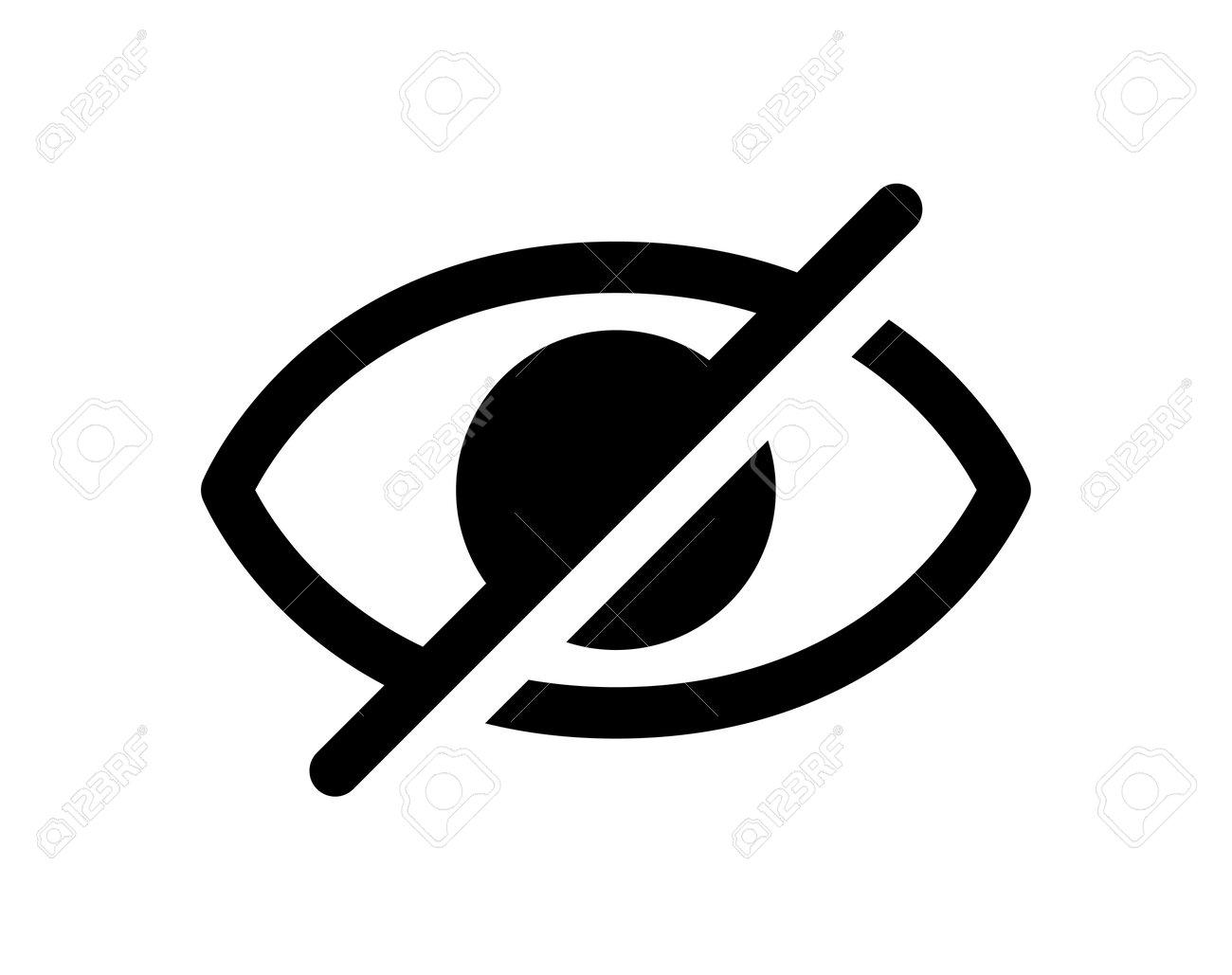 Hidden eye vector icon (Monochrome) - 170366972